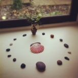 Stone circle - simple decorations left by the previous tenant of my bedroom.