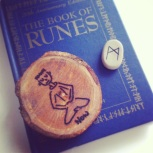 A gift from one of the coordinators and a rune I picked for the group sharing.